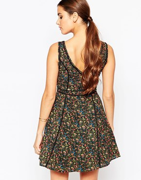 photo Floral Print Dress by Adelyn Rae, color Green - Image 2