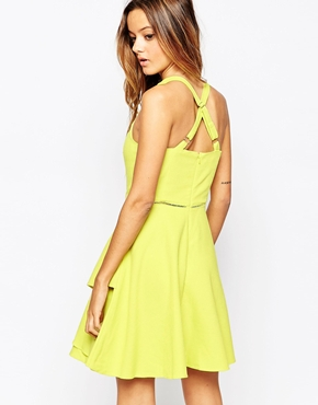photo Layered Skater Dress by Adelyn Rae, color Yellow - Image 2