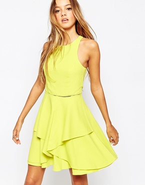 photo Layered Skater Dress by Adelyn Rae, color Yellow - Image 1