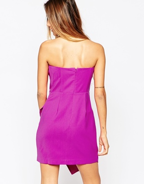 photo Strapless Dress with Asymmetric Layer by Adelyn Rae, color Pink - Image 2