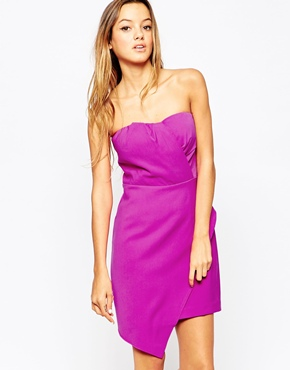 photo Strapless Dress with Asymmetric Layer by Adelyn Rae, color Pink - Image 1