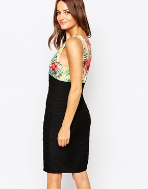 photo Mimi Bandage Dress with Floral Top by Amy Childs, color Multi - Image 2