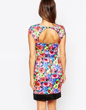 photo Serena Floral Panelled Dress by Amy Childs, color Multi - Image 2