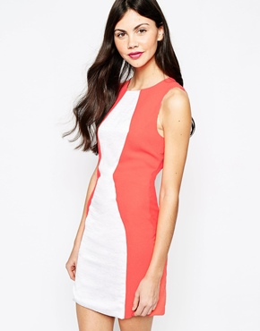 photo Colourblock Dress by Aryn K, color White - Image 1
