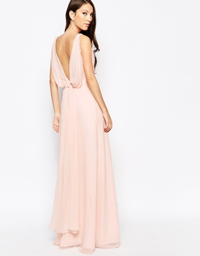 photo Ashley Roberts for Key Collections Brilliance Maxi Dress, color Nude - Image 2