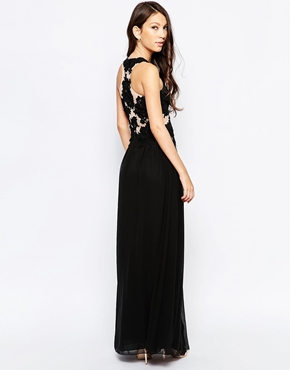 photo Ashley Roberts for Key Collections Serenity Maxi Dress, color Black - Image 2