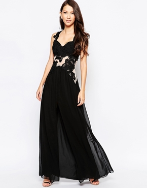 photo Ashley Roberts for Key Collections Serenity Maxi Dress, color Black - Image 1
