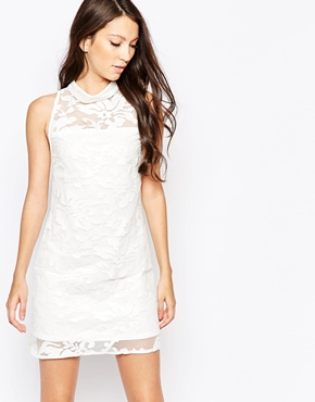 photo Ashley Roberts for Key Collections Snowball Dress, color White - Image 1