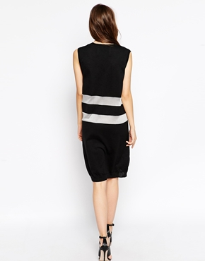 photo Knit High Visibility Sleeveless Dress by BACK By Ann Sofie Back, color Black Reflective - Image 2