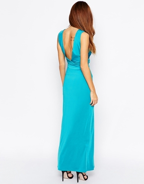 photo Aldgate Maxi Dress by Binky Binky for Lipstick Boutique, color Teal - Image 2
