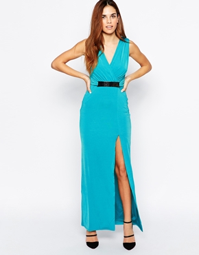 photo Aldgate Maxi Dress by Binky Binky for Lipstick Boutique, color Teal - Image 1