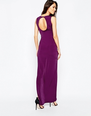 photo Stockwell Maxi Dress by Binky for Lipstick Boutique, color Purple - Image 2