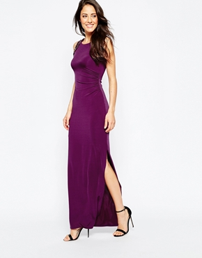 photo Stockwell Maxi Dress by Binky for Lipstick Boutique, color Purple - Image 1