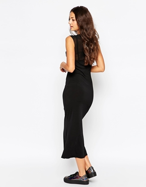 photo Bitching & Junkfood Delivery Sleeveless Midi Bodycon Dress, color Black - Image 2