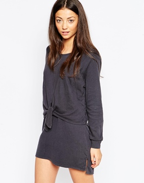 photo Ivana Dress with Knot Front by By Zoe, color Black - Image 1