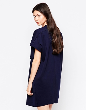 photo Loose T-Shirt Dress by By Zoe, color Navy - Image 2