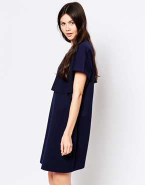 photo Loose T-Shirt Dress by By Zoe, color Navy - Image 1