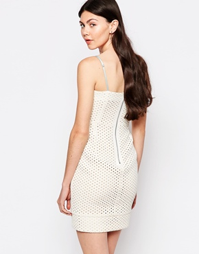 photo Perforated Dress by By Zoe, color Ecru Jean - Image 2