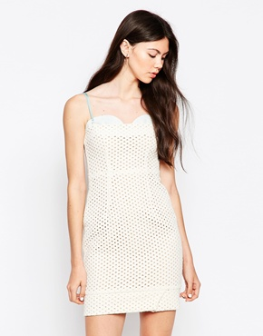 photo Perforated Dress by By Zoe, color Ecru Jean - Image 1