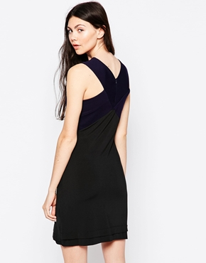 photo Skater Dress with Cross Neck by By Zoe, color Navy Nuit - Image 2