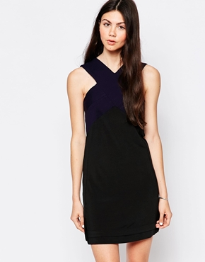 photo Skater Dress with Cross Neck by By Zoe, color Navy Nuit - Image 1