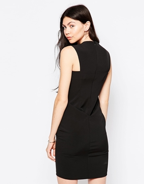 photo Sleeveless Shift Dress with Knot Front by By Zoe, color Nuit - Image 2