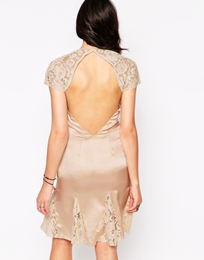 photo Catherine Dress with Lace Inserts by Candela NYC, color Blush - Image 2