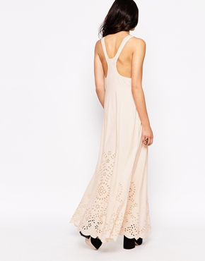 photo Dream Maxi Dress with Laser Cut Outs by Candela NYC, color Blush - Image 2