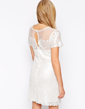 photo Paige Sequin Dress by Candela NYC, color Off White - Image 2