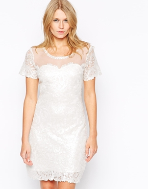 photo Paige Sequin Dress by Candela NYC, color Off White - Image 1