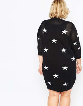 photo Plus Size Madonna Dress In Star Print by Carmakoma, color Black - Image 2