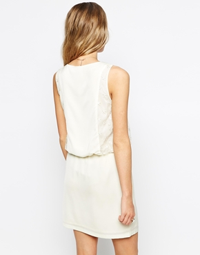 photo Dress with Star lace Detail by Colorblock, color Off White - Image 2