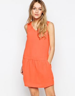 photo Dress with Strappy Back by Colorblock, color Orange - Image 2
