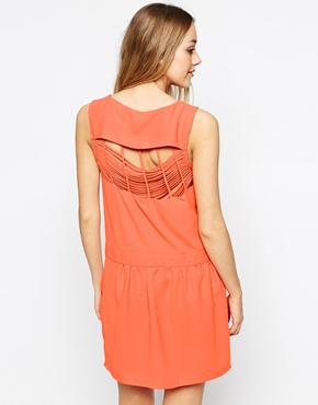 photo Dress with Strappy Back by Colorblock, color Orange - Image 1