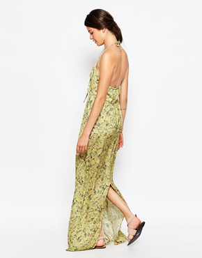 photo Atria Maxi Dress by d.RA, color Yellow Ditsy Floral - Image 2