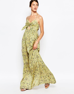 photo Atria Maxi Dress by d.RA, color Yellow Ditsy Floral - Image 1