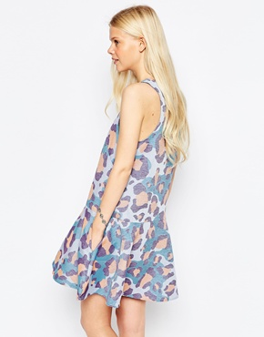 photo Faded Animal Print Dress by Eleven Paris, color Passion - Image 2