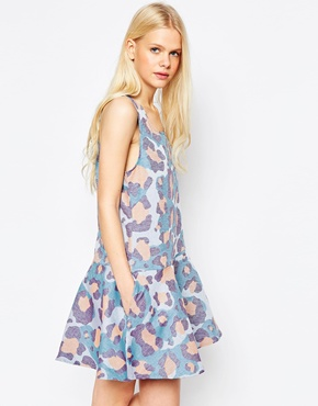 photo Faded Animal Print Dress by Eleven Paris, color Passion - Image 1