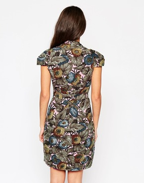 photo Emily & Fin Elsa Dress In Woodland Print, color Multi - Image 2