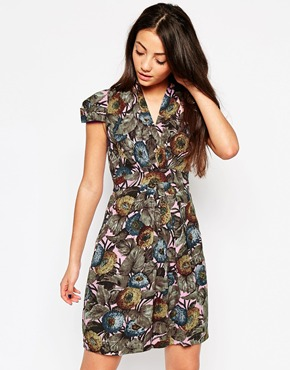 photo Emily & Fin Elsa Dress In Woodland Print, color Multi - Image 1