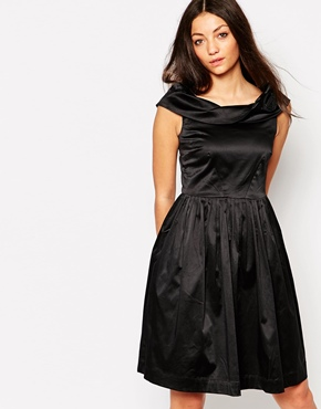 photo Emily & Fin Norma Off The Shoulder Dress, color Black - Image 1