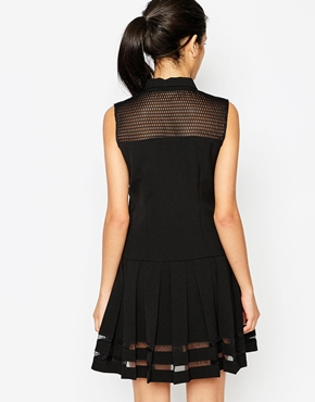 photo Yerech Dress with Sheer Inserts by Frankie Morello, color Black - Image 2