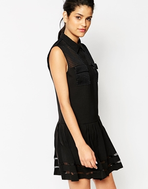 photo Yerech Dress with Sheer Inserts by Frankie Morello, color Black - Image 1