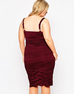 photo All Over Sequin Pencil Dress by Gemma Collins, color Red - Image 2