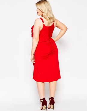 photo Cami Bodycon Dress with Ruched Detail by Gemma Collins, color Red - Image 2