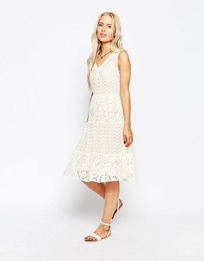 photo Lace Midi Dress by Hazel, color White - Image 1