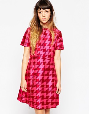 photo Gingham Panel Dress by House of Holland, color Pink - Image 1
