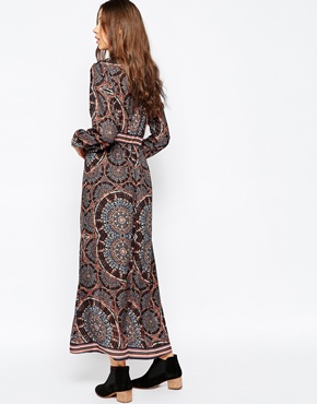 photo Long Sleeve Boho Maxi Dress by Influence Tall, color Multi - Image 2
