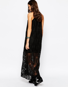 photo High Neck Lace Dress by JAPONICA, color Black - Image 2