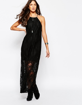 photo High Neck Lace Dress by JAPONICA, color Black - Image 1